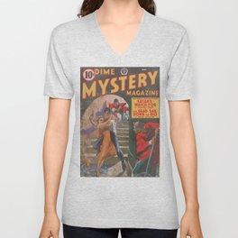Dime Mystery Magazine – May 1941 Unisex V-Neck