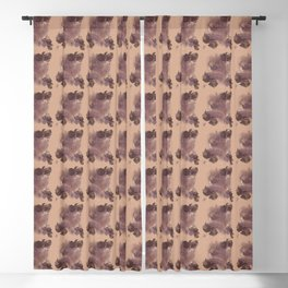 Neutral Abstract Beige Print Blackout Curtain