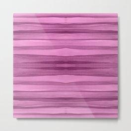 Crooked Pink Stripes 886 Metal Print