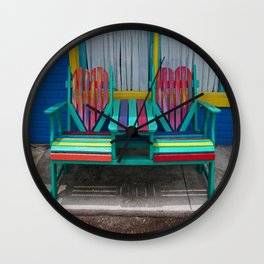 Heart Bench Wall Clock