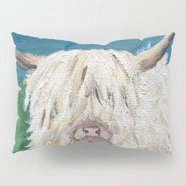 A Sweet Shaggy Highland Coo Pillow Sham