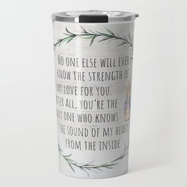 Moms Love w/Weathered wood background Travel Mug