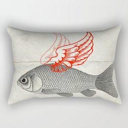 Flying Goldfish Rectangular Pillow
