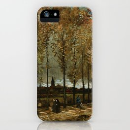 Vincent Van Gogh Poplars Near Nuenen iPhone Case