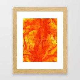 Microcosmos Rojo Framed Art Print