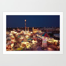 Tilt Shift Carnival Art Print