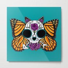 The Return of the Monarchs - Cat Metal Print