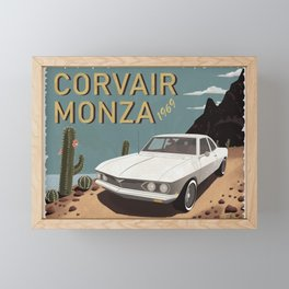 Corvair Monza Retro Poster Framed Mini Art Print