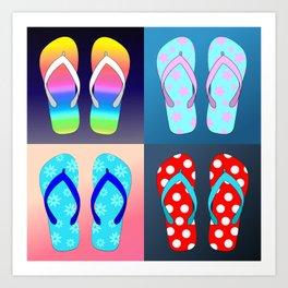 Flip Flop Pop Art Art Print