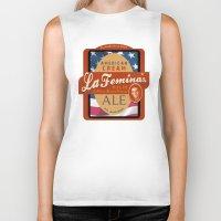 ale giorgini Biker Tanks featuring American Cream Ale by La Femina Brewing Co.