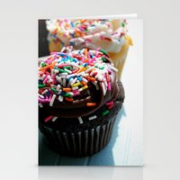 cupcakes Stationery Cards featuring Cupcakes by Gabby DaRienzo