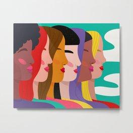 Women Metal Print