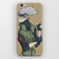 kakashi iPhone & iPod Skins featuring Kakashi by Salva Laserna