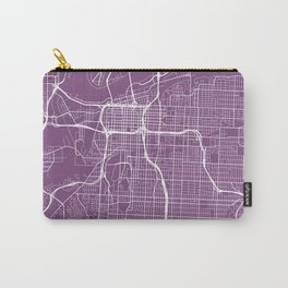 Kansas City Map, USA - Purple Carry-All Pouch