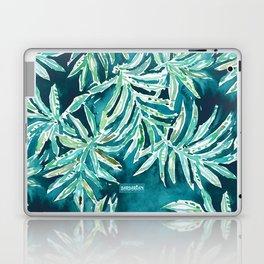 SANTA CRUZIN' Navy Tropical Palm Leaves Laptop & iPad Skin