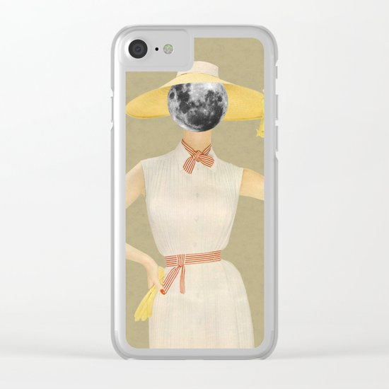 Moon Beauty Clear iPhone Case