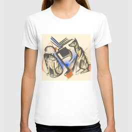 """Franz Marc """"Two Wolves"""" T-shirt"""