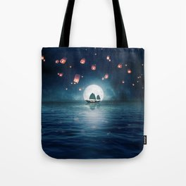 Travel through the Lights Tote Bag