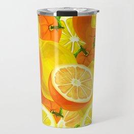 Tropical Fruits Pattern Travel Mug