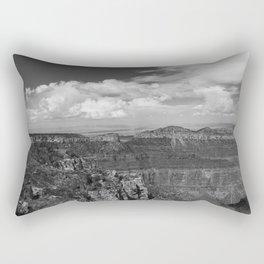 North_Rim Grand_Canyon, AZ - B&W I Rectangular Pillow