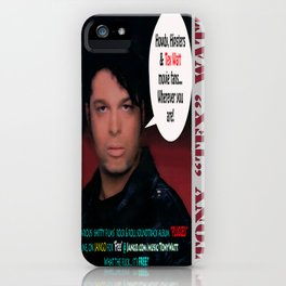 "The Tony 'Tex' Watt Jango Radio ""Plugged"" Album Poster iPhone Case"