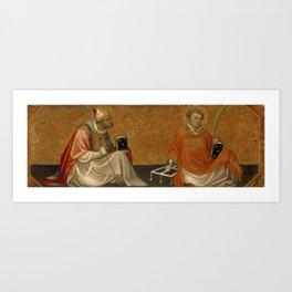 Gherado di Jacopo di Neri Starnina - A Bishop Saint and Saint Lawrence Art Print