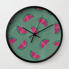 Watermelon Wiggle Wall Clock