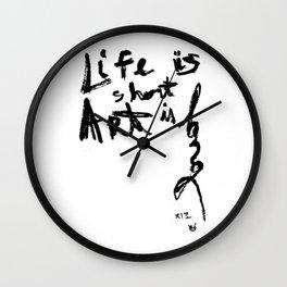 Life is short Art is long Wall Clock