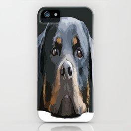 Rottweiler Portrait Vector iPhone Case