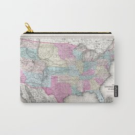 1857 Colton Map of the United States of America Carry-All Pouch