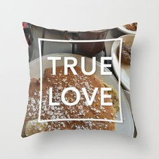 true love: breakfast Throw Pillow