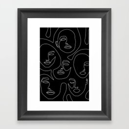 Faces in Dark Framed Art Print