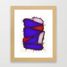 Crushed blue Framed Art Print