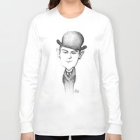 kafka Long Sleeve T-shirts featuring Kafka by Liliana Ostrovsky