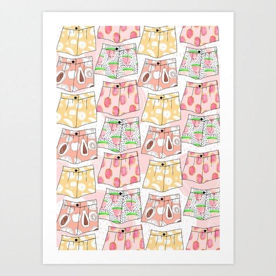 Fruity Pants Pattern Art Print