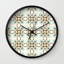 Vector seamless pattern. Modern stylish texture. Repeating geometric tiles with hexagonal elements Wall Clock