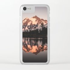 Alpenglow - Mountain Reflection Clear iPhone Case