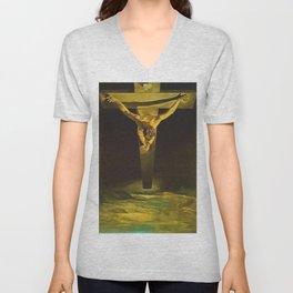 Christ of St John of the Cross - Salvador Dali Unisex V-Neck