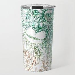 Lion Tailed Macaque VS Coffee Travel Mug