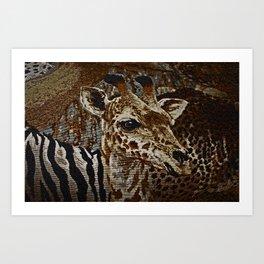 LITTLE WORLD OF ANIMALS Art Print