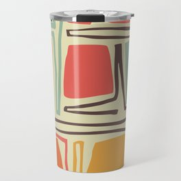 Whimsical abstract pattern design Travel Mug