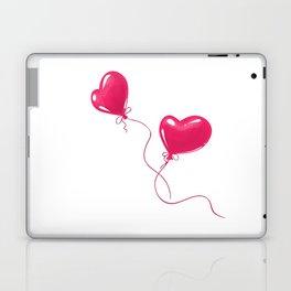 Heart shaped red balloons Laptop & iPad Skin