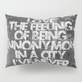 Lab No. 4 - Feeling And Travel Quotes Poster Pillow Sham