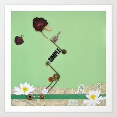 the rose  spring Art Print