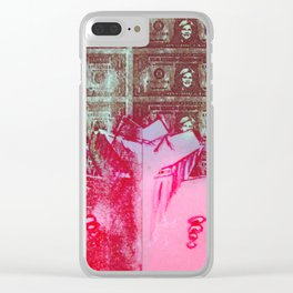 Pink Fiscal Year Clear iPhone Case