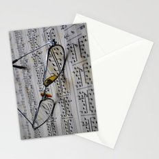 Glasses and note sheet Stationery Cards