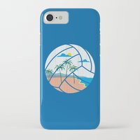 volleyball iPhone & iPod Cases featuring Beach Volleyball by Erik Sandi Satresa
