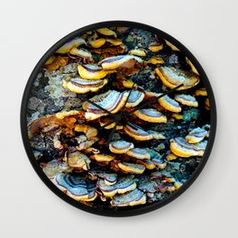 Tree Fungi Pattern Wall Clock