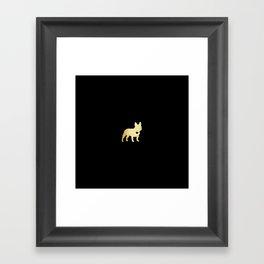 French Bulldog Gold Framed Art Print