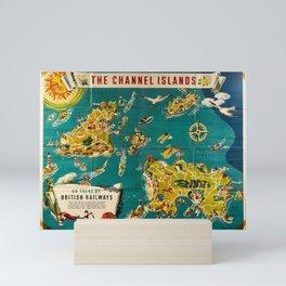 poster Channel Islands Guernsey Alderney Sark Jersey British Railways Mini Art Print